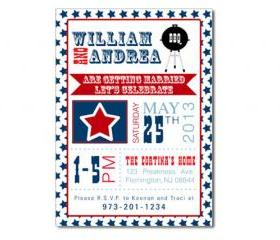 Patriotic BBQ Themed Invitation