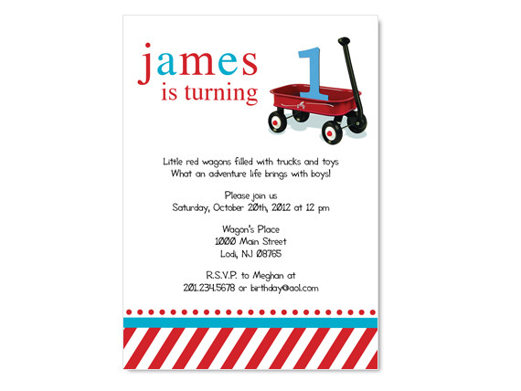 Mustache Baby Invitation Custom Colors on Luulla – Red Wagon Birthday Invitations