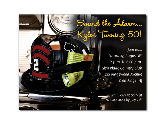 Firefighter Birthday Retirement Custom Invitations on Luulla – Firefighter Birthday Invitations