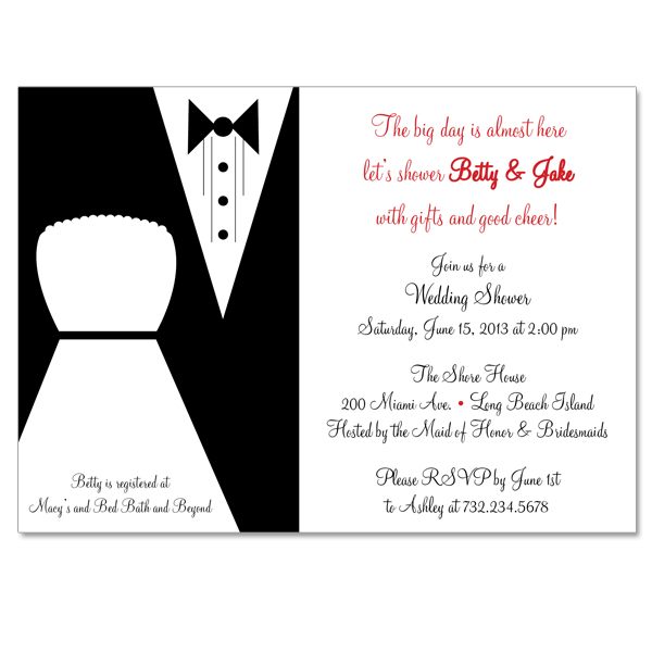 bride and groom custom bridal shower invitation on luulla With wedding shower for bride and groom