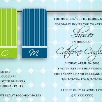 Towel Bridal Shower Invitation - Custom Colors