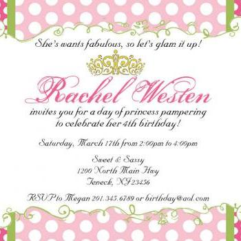 Royal Princess or Queen Invitation